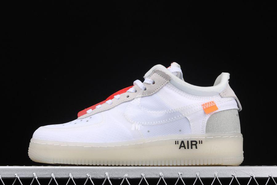 2017 Off-White x Nike Air Force 1 Low White-Sail