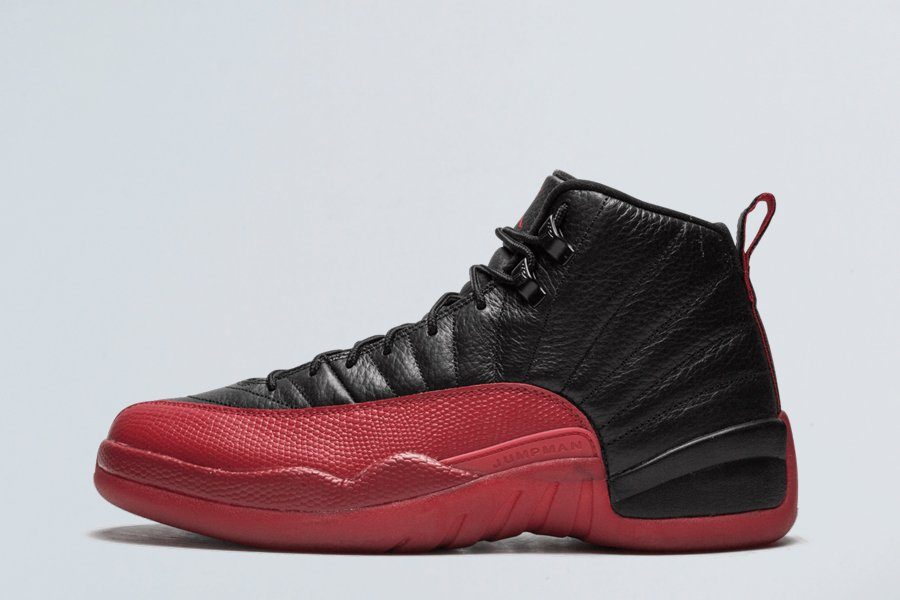 Air Jordan 12 XII Flu Game Black Varsity Red
