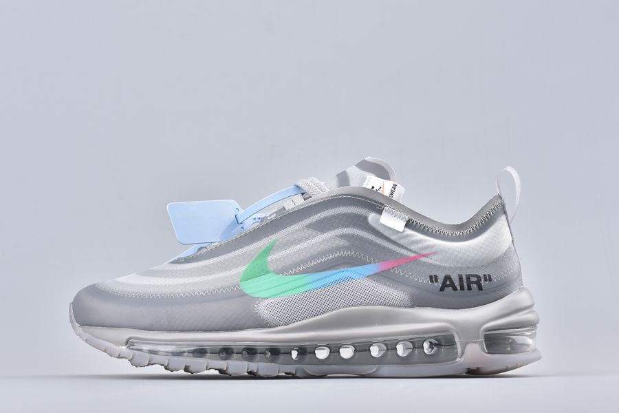 2018 The Ten Off-White x Nike Air Max 97 White-Wolf Grey For Sale