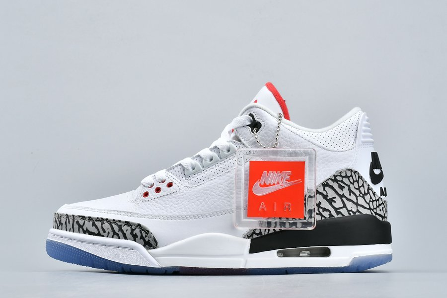 Air Jordan 3 NRG Dunk Contest White Fire Red-Cement Grey Black To Buy