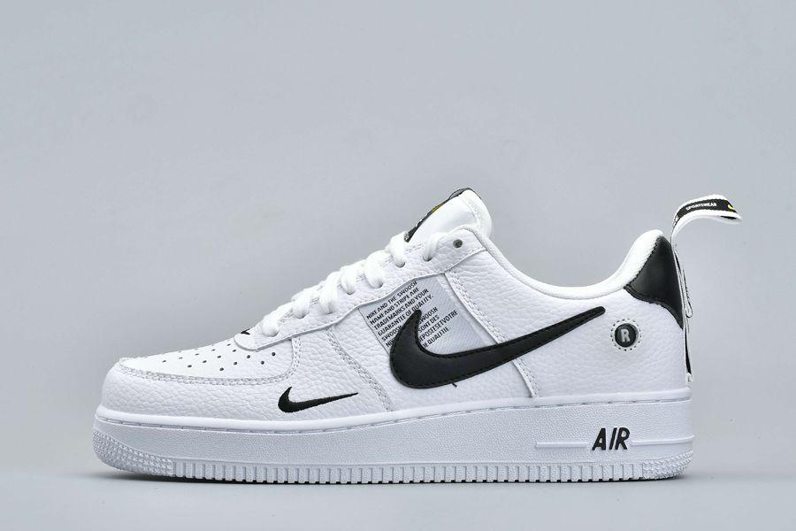 Nike Air Force 1 Low Utility White Black Tour Yellow AJ7747-100 On Sale