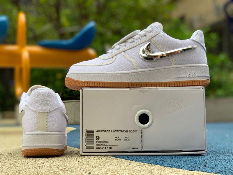 Travis Scott x Nike Air Force 1 Low White