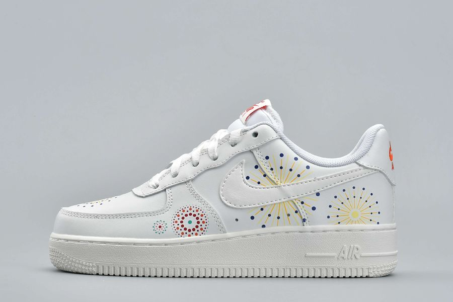 Nike Air Force 1 Pinnacle QS Fireworks White Youth Size For Sale