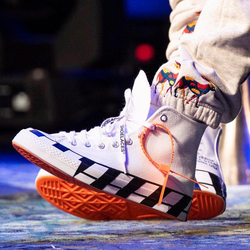 Off-White x Converse Chuck 70 Stripe On Feet