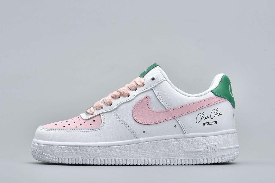 Green Tea Bar Cha Cha Matcha x Nike Air Force 1 Low Custom Womens For Sale