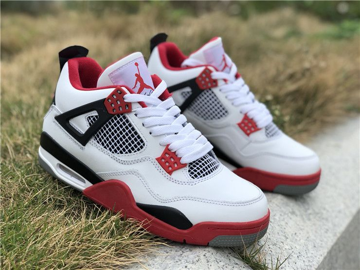 Air Jordan 4 IV Fire Red Nike Air Logo On The Heel For Sale