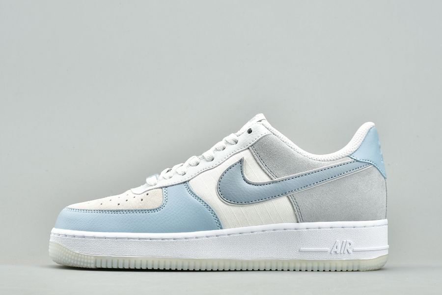 Nike Air Force 1 Low Light Armory Blue Obsidian Mist-Off White For Sale