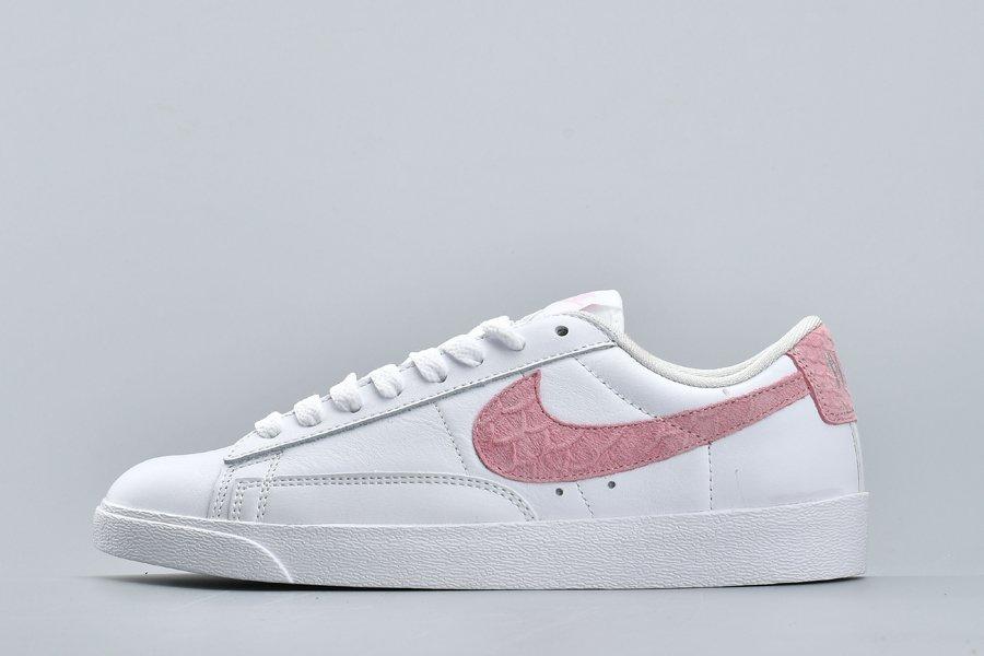 Ladies Nike Wmns Blazer Low PRM White Pink For Sale