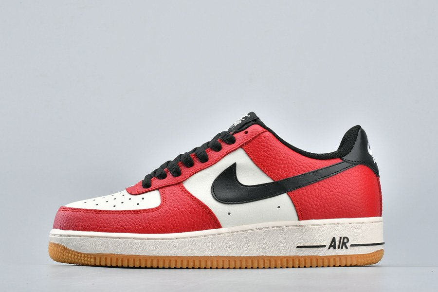 Nike Air Force 1 Low Chicago Gym Red Black-Gum Light Brown-Sail For Sale