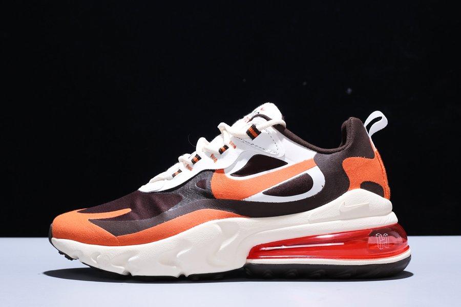 Travis Scott x Nike Air Max 270 React Sail Orange Brown For Sale