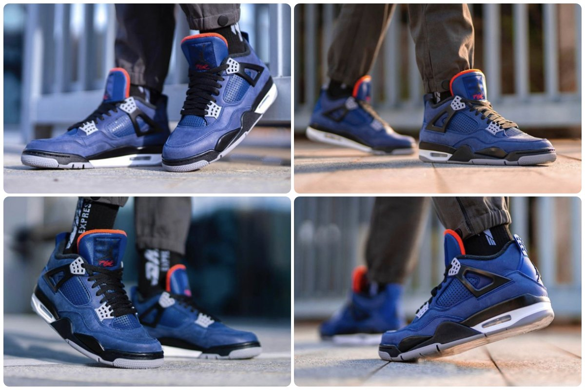 Air Jordan 4 WNTR Loyal Blue On Feet