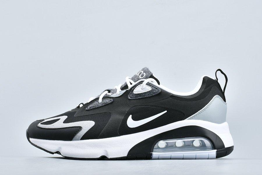 Buy Nike Air Max 200 Black White Grey Mens Lifestyle Shoes