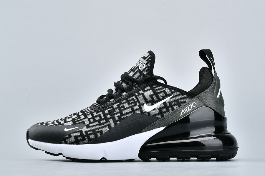 Buy Nike Air Max 270 SE Black White WIth All-Over Graphic Design