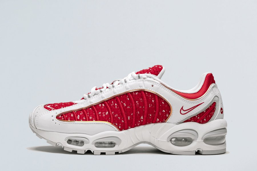 Buy Supreme x Nike Air Max Tailwind 4 University Red White AT3854-100 Online