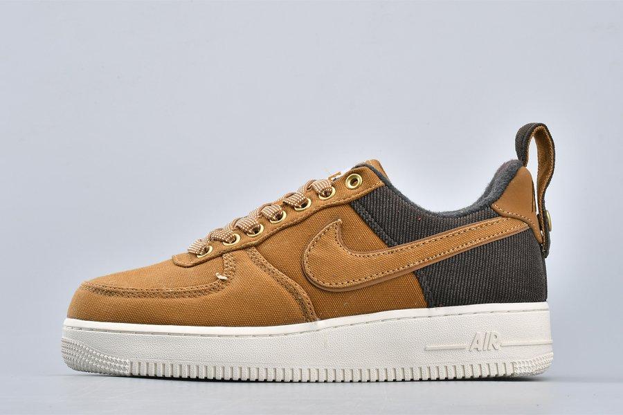 Carhartt WIP x Nike Air Force 1 07 PRM Ale Brown AV4113-200 For Sale