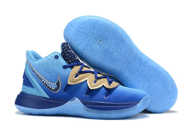 Concepts x Nike Kyrie 5 Blue Gold For Sale