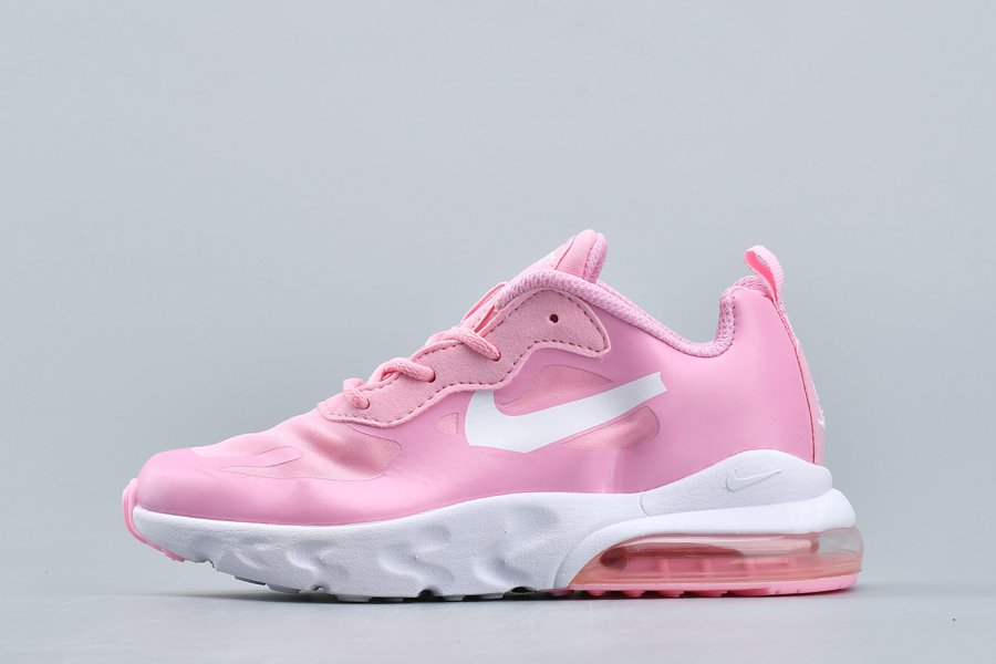 Kids Nike Air Max 270 React Pink White On Sale