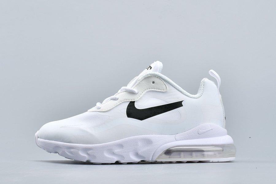 Kids Nike Air Max 270 React White On Sale
