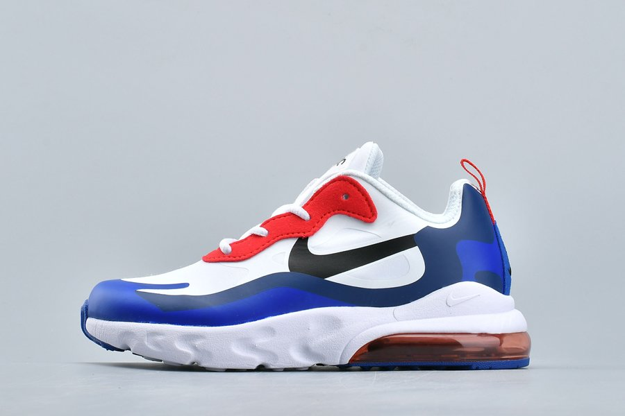 Kids Nike Air Max 270 React White Roya Blue-Red For Sale