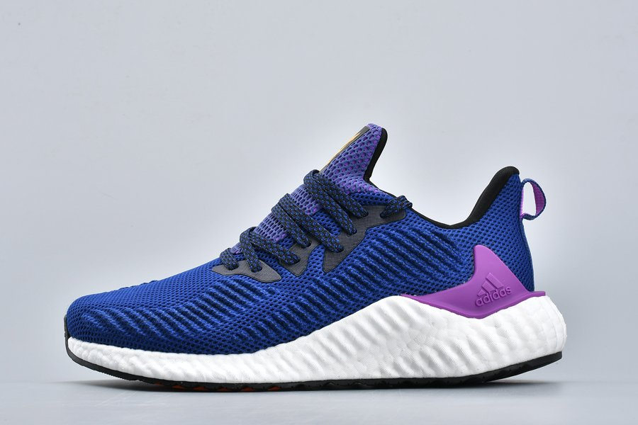 Mens adidas Alphaboost Running Shoe Unity Ink Shock Purple For Sale