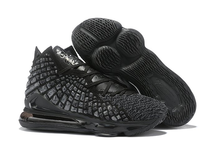 New Knitposite Nike Lebron 17 Triple Black On Sale