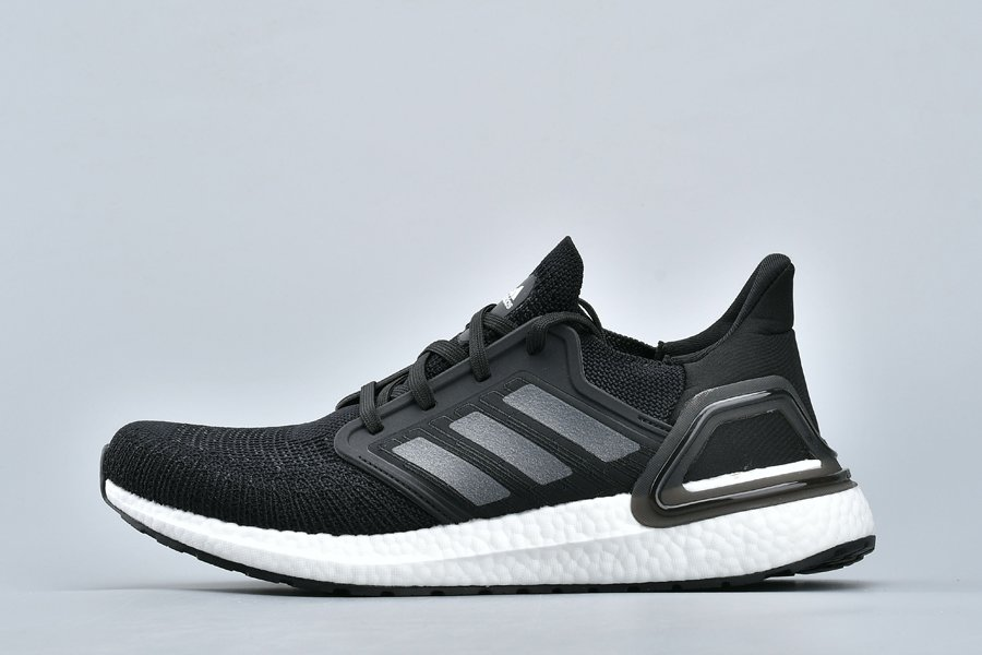 New adidas UltraBOOST 20 Black White Running Shoes On Sale