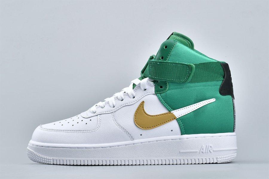 Nike Air Force 1 High NBA Celtics White Green Gold On Sale
