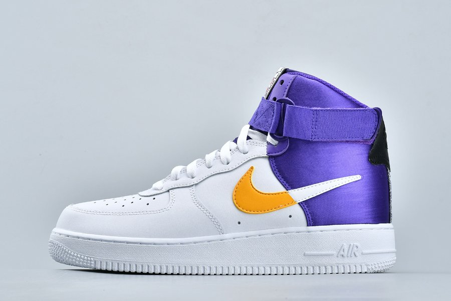 Nike Air Force 1 High NBA Lakers White Yellow Purple For Sale