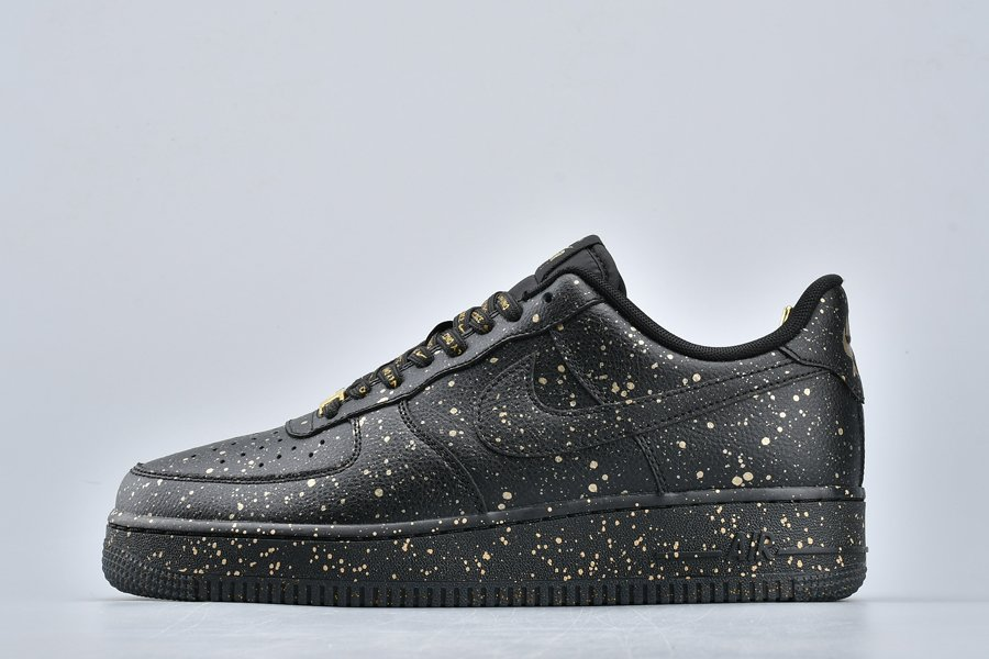 Nike Air Force 1 Low Only Once Black Gold Speckles For Sale