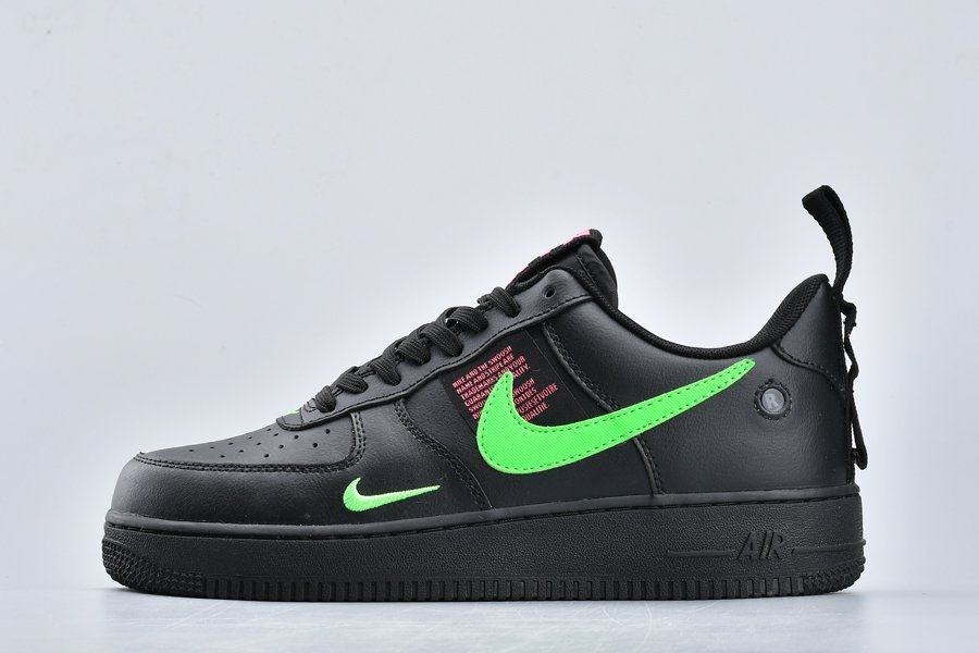 Nike Air Force 1 Low Utility Black Scream-Green-Hyper Pink For Sale