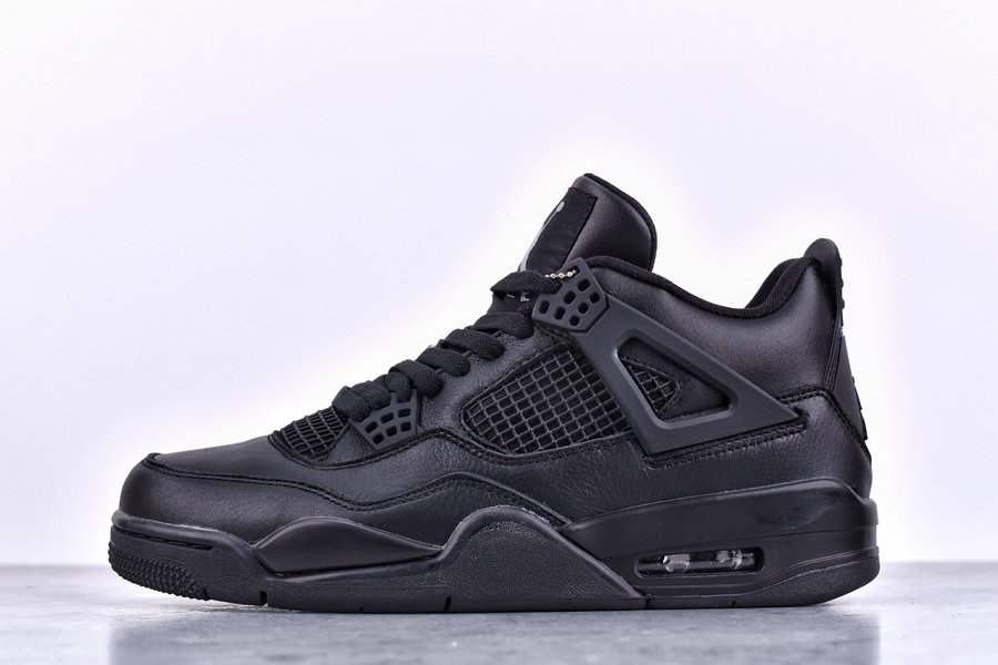 Nike Air Jordan 4 Black Leather Cheap Sale