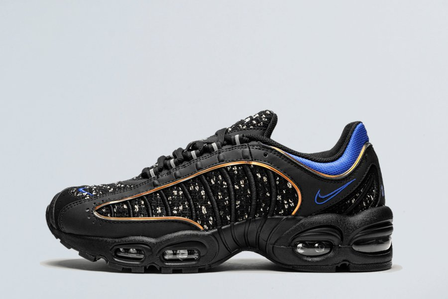 Supreme x Nike Air Max Tailwind 4 Black Cobalt AT3854-001 For Sale