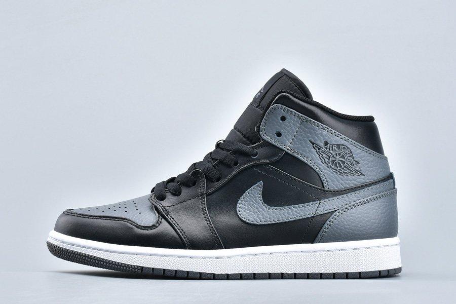 Air Jordan 1 Mid Black Dark Grey 554725-041 For Sale