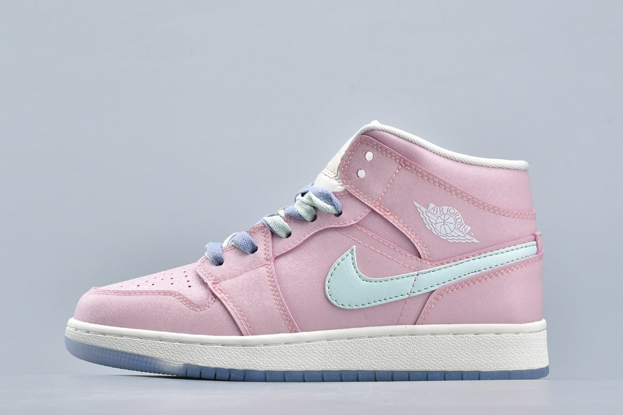 Air Jordan 1 Mid GG Pink White For Sale