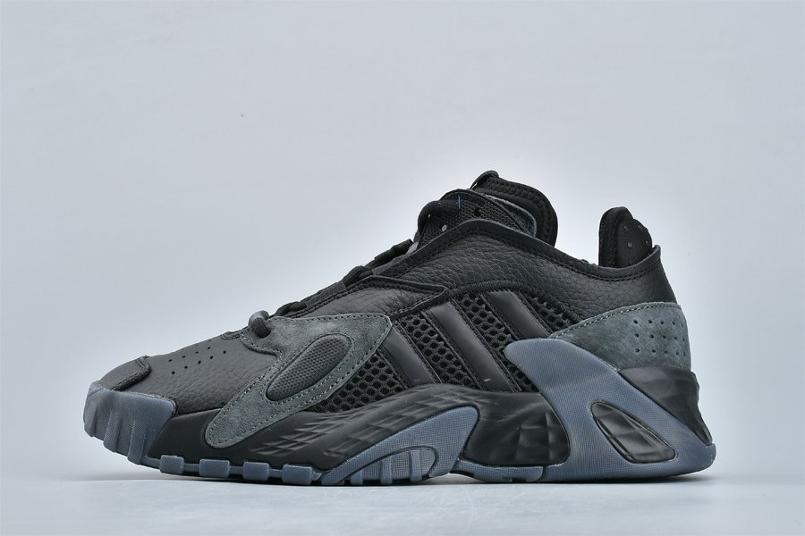 Brand New adidas Streetball Triple Black Pas Cher