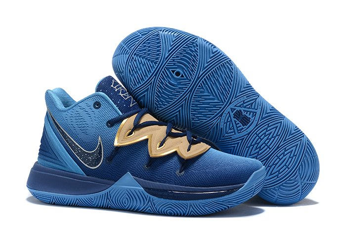 Concepts x Nike Kyrie 5 Orions Belt Ocean Blue Gold For Sale