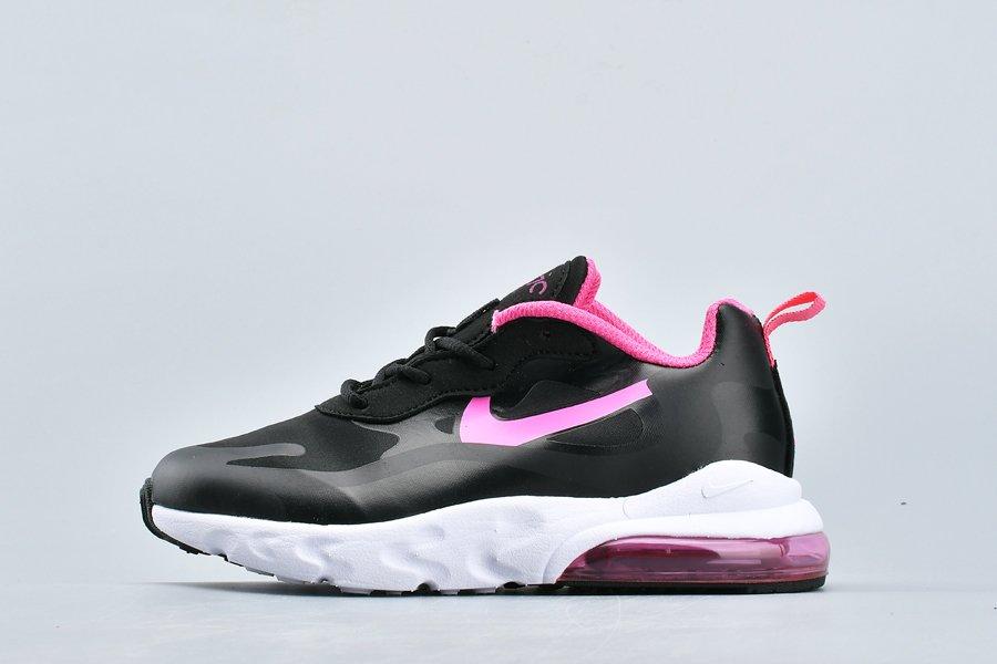 Kids Nike Air Max 270 React children Black Pink On Sale
