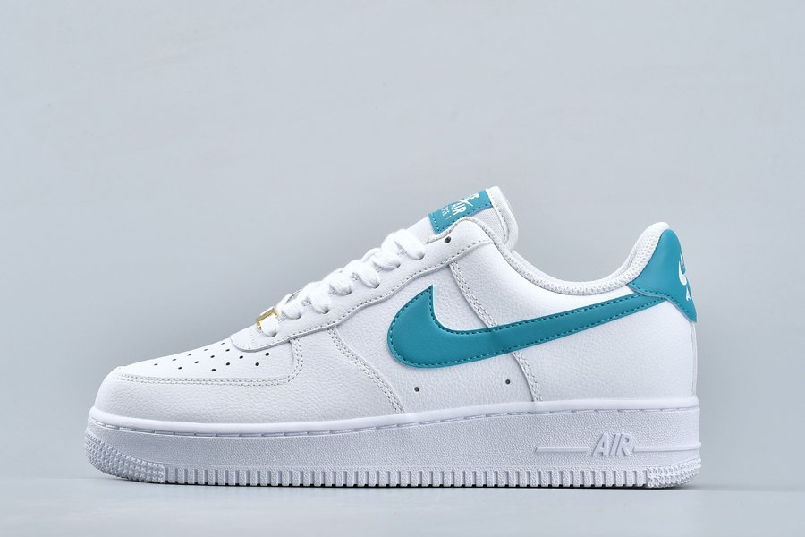 Men and Womens Nike Air Force 1 07 Low White Teal Nebula For Sale
