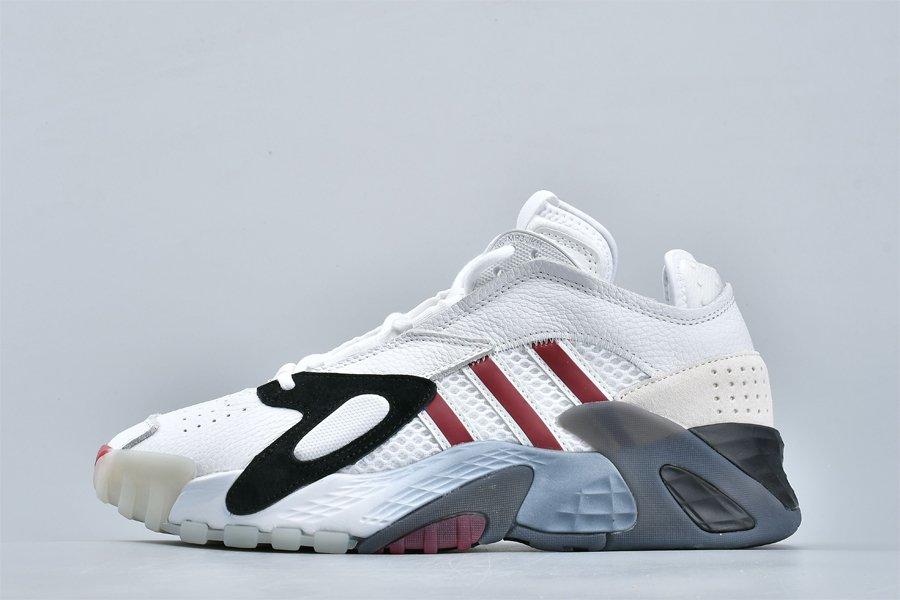 Mens adidas Streetball White Burgundy Basketball Shoes To Buy
