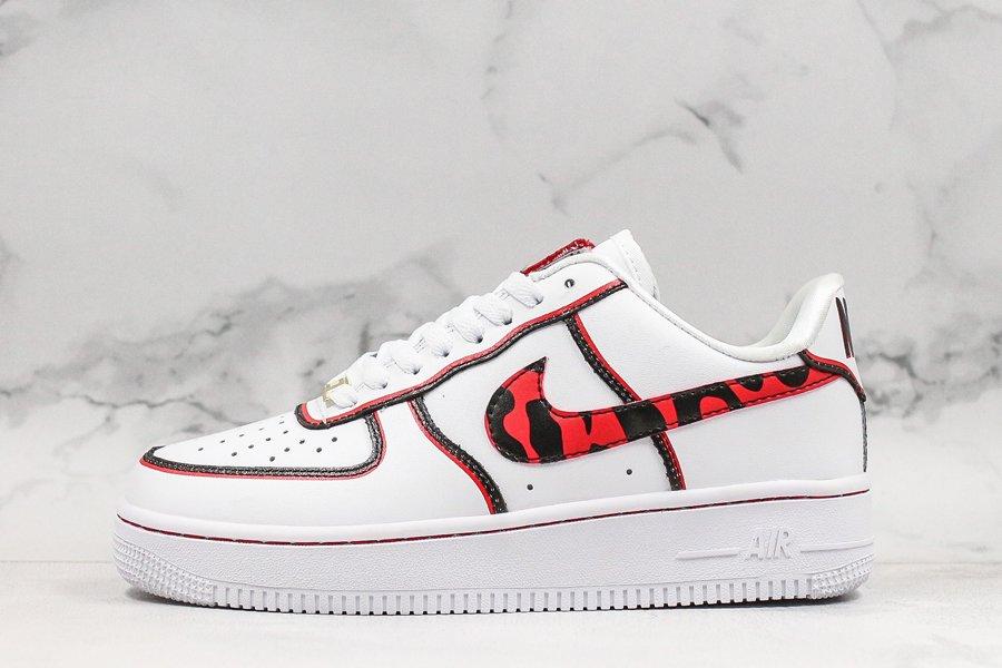 Nike Air Force 1 07 Dennis Rodman White Black-University Red For Sale