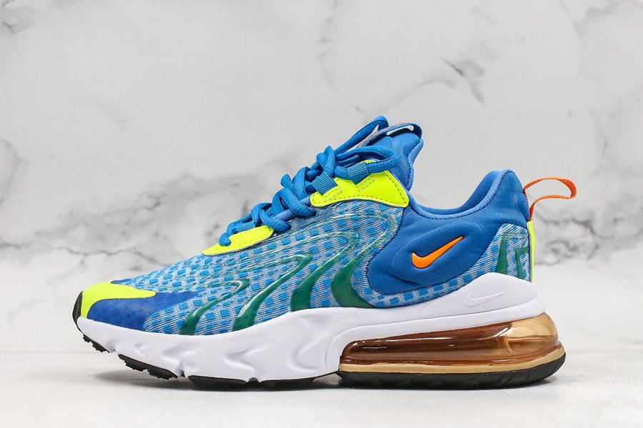 Nike Air Max 270 React ENG V3 Royal Blue White Yellow For Sale