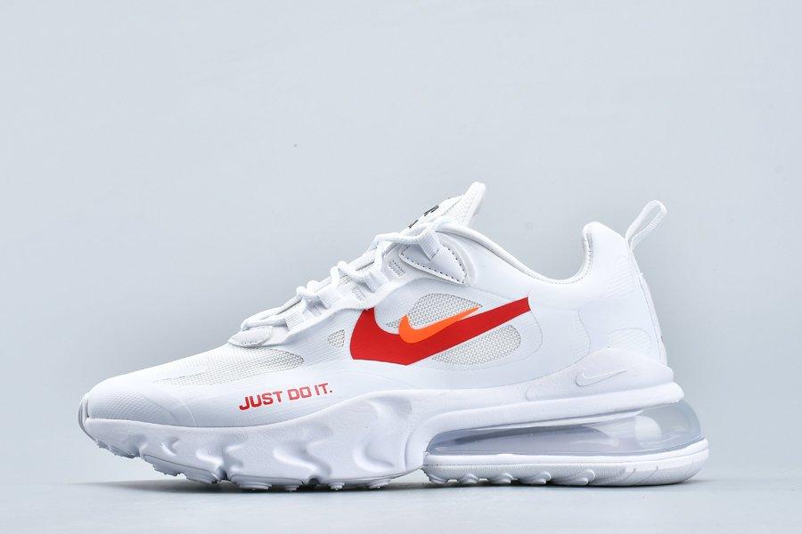 Nike Air Max 270 React Just Do It White Hyper Crimson For Sale