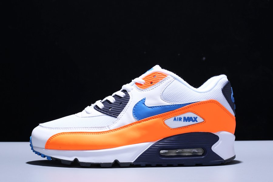 Nike Air Max 90 Essential Knicks Orange Blue AJ1285-104 For Sale