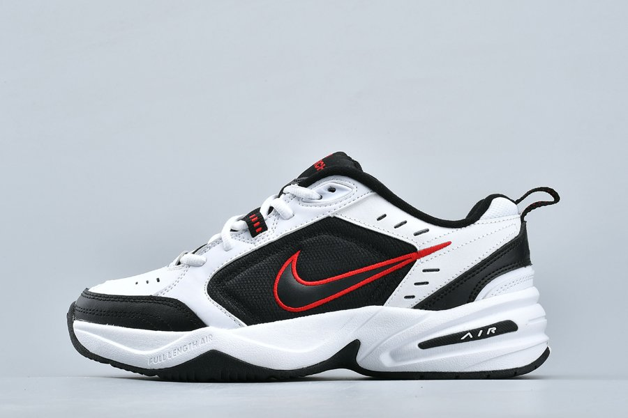 Nike Air Monarch IV 4 White Black Red 415445-101 For Sale
