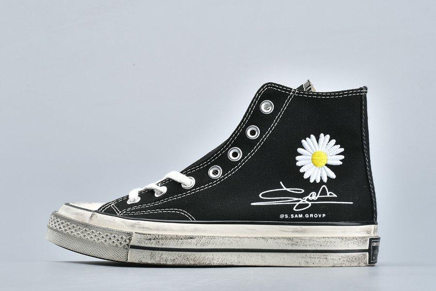 PEACEMINUSONE x Converse Chuck 70 Sunflower Black For Sale