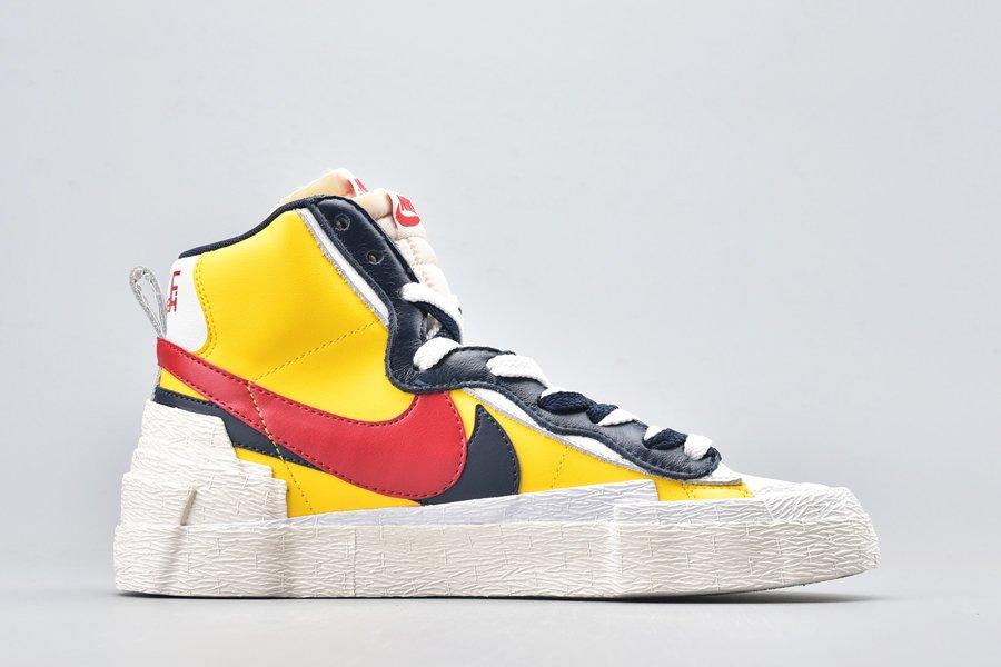Sacai x Nike Blazer Mid Varsity Maize Medial
