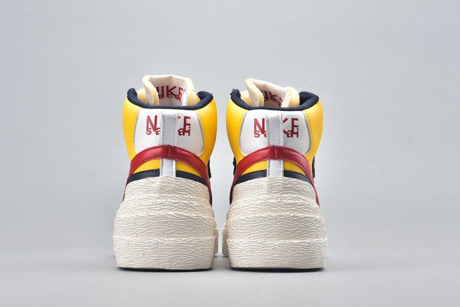 Sacai x Nike Blazer Mid Varsity Maize Heel