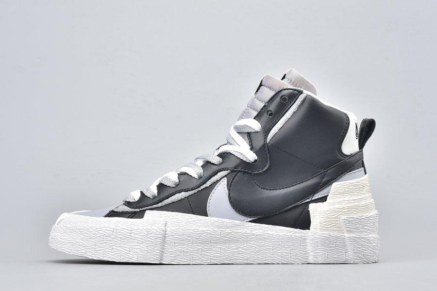 sacai x Nike Blazer Mid Black Wolf Grey BV0072-002 On Sale