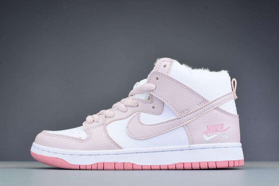 Buy Now Nike Dunk SB High Pro Pink White Winterized Womens