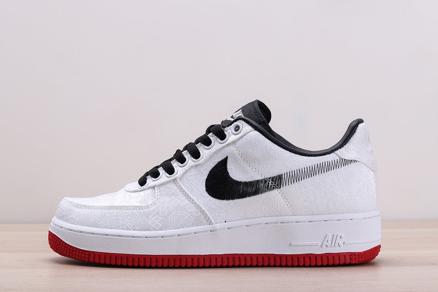 CLOT x Nike Air Force 1 Low Fearless White Black Red Outlet